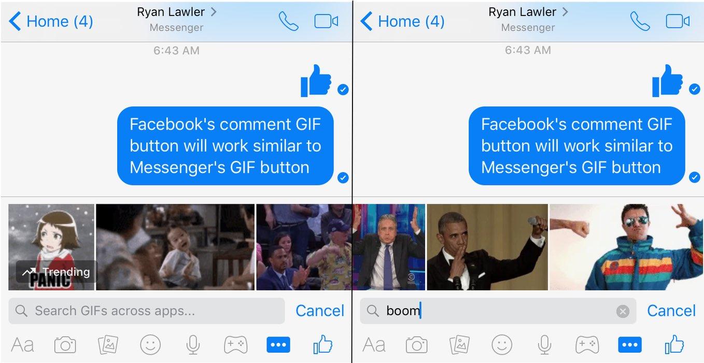 Đã có thể trả lời comment bằng GIF trên Facebook
