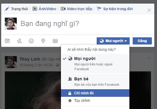 Cách đăng ảnh trên facebook chỉ 1 số người xem được 2
