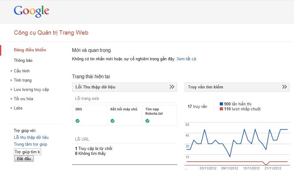 Hướng dẫn cài đặt Google Webmaster Tool 8