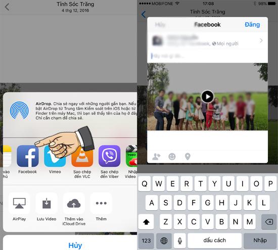 Hướng dẫn tự tạo Video hình ảnh trên iOS 10 5