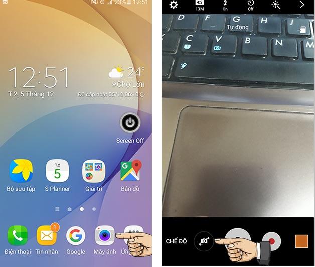 Bật đèn Flash camera trước trên Samsung bạn đã biết chưa