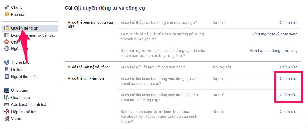 Cách ẩn trang cá nhân Facebook trên các công cụ tìm kiếm-3