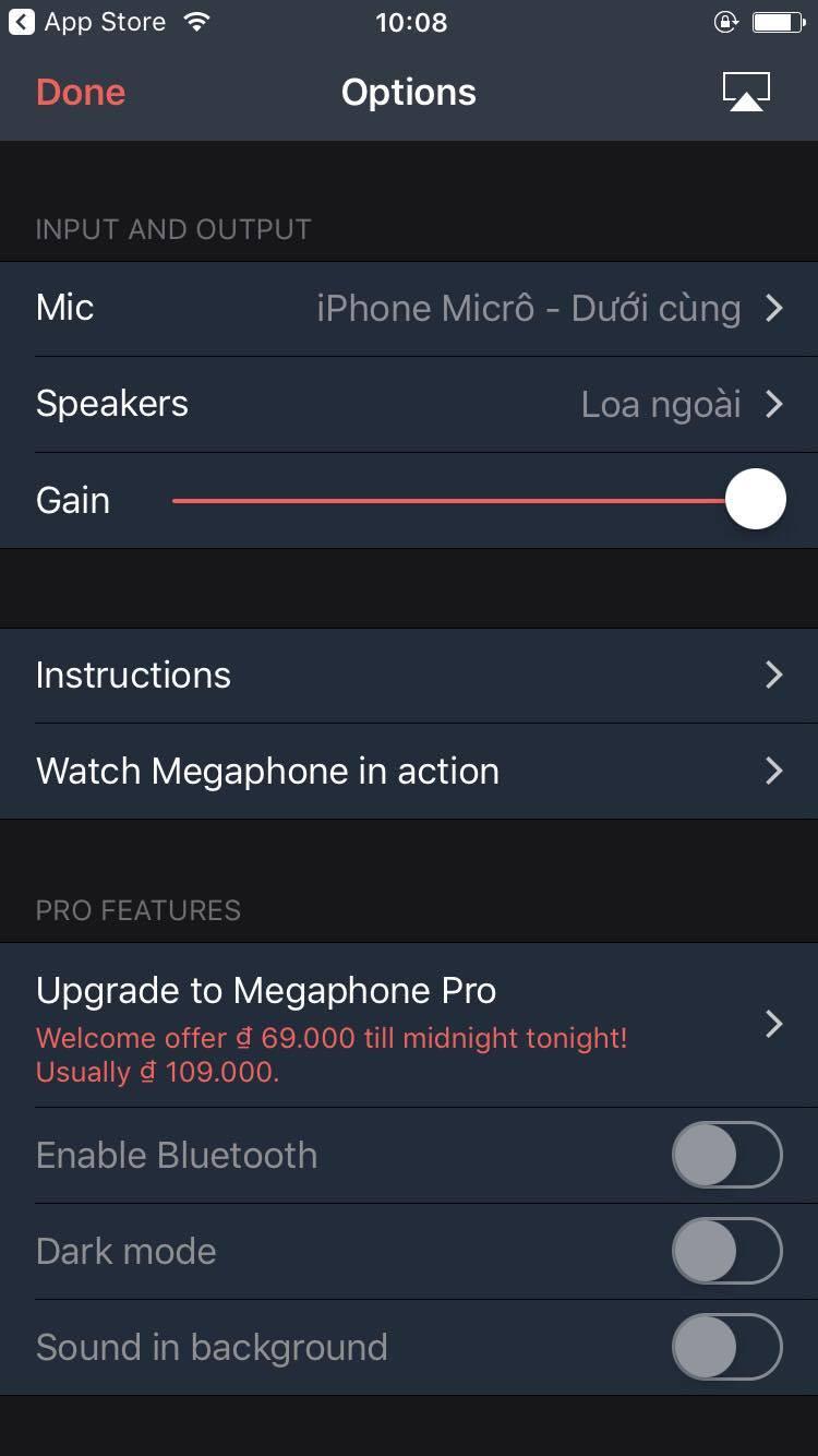 Cách biến smartphone thành micro để hát karaoke 3