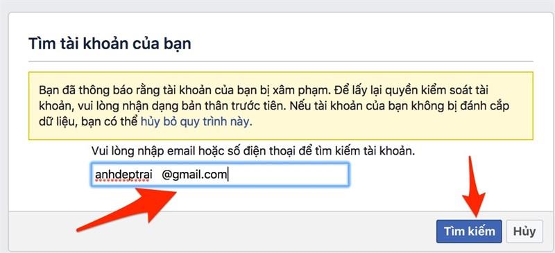 Cách lấy lại Facebook bị hack trong vòng một nốt nhạc 2