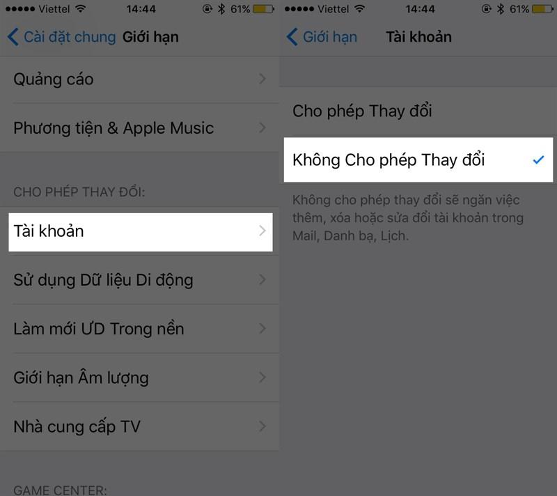 Cách ngăn người khác thay đổi iCloud trên iPhone 3