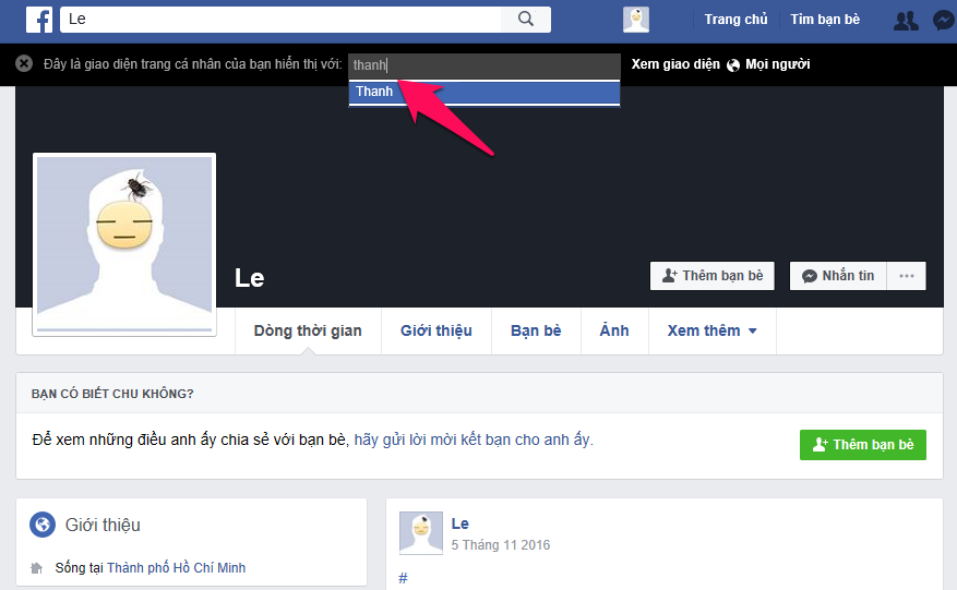 Cách xem Facebook của mình với tư cách người khác 4