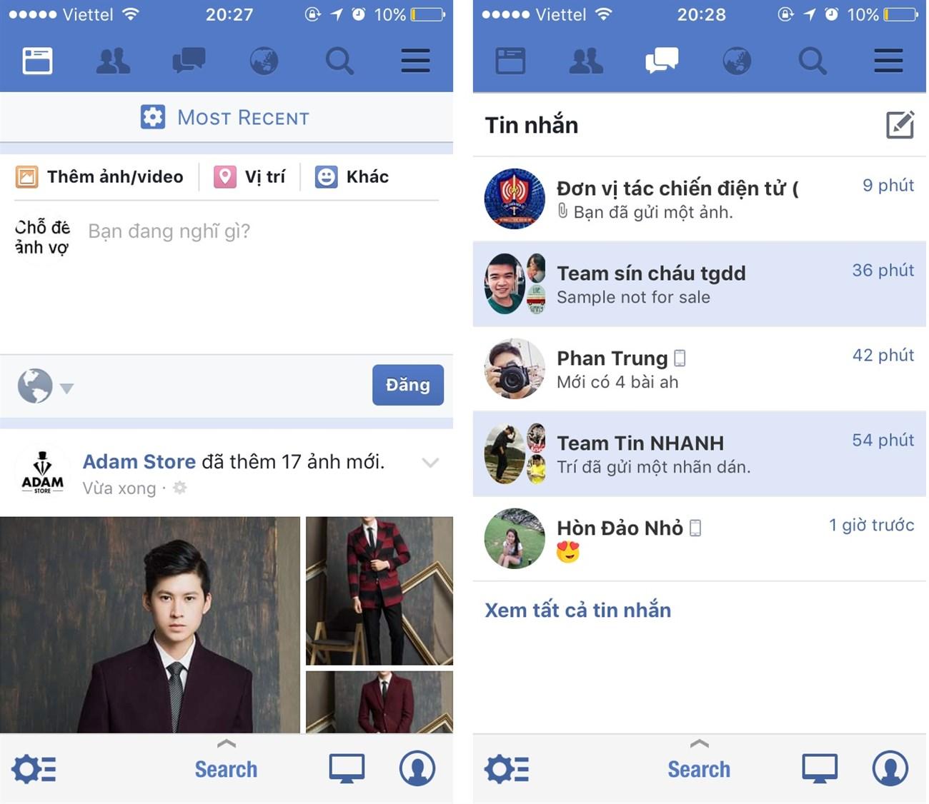 Hướng dẫn gộp Facebook và Messenger lại thành một trên iPhone 4