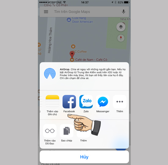 Hướng dẫn chia sẻ vị trí trên iPhone chạy iOS 10-4