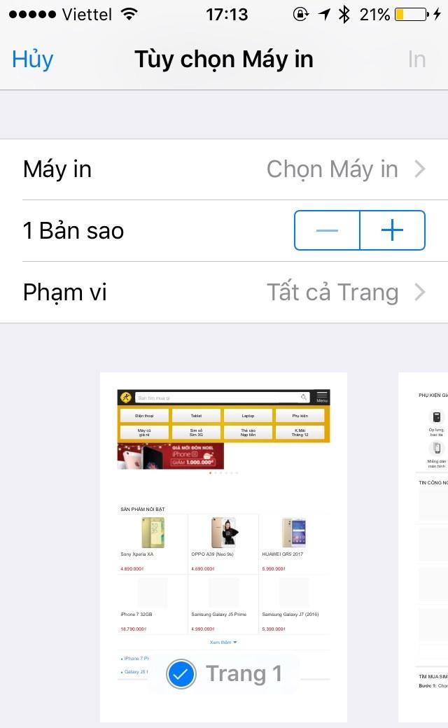 Hướng dẫn in ảnh từ iPhone bằng máy in không cần cắm dây 3