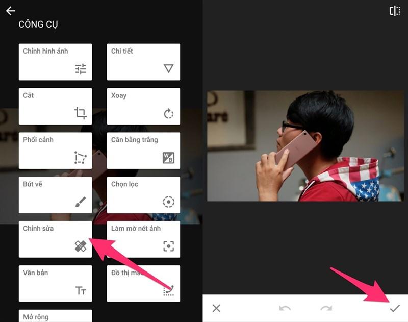 Mẹo xoá chi tiết thừa trên ảnh bằng smartphone trong 1 nốt nhạc