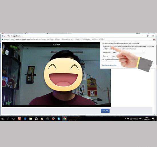 Phát trực tiếp live stream trên Facebook bằng máy tính-4