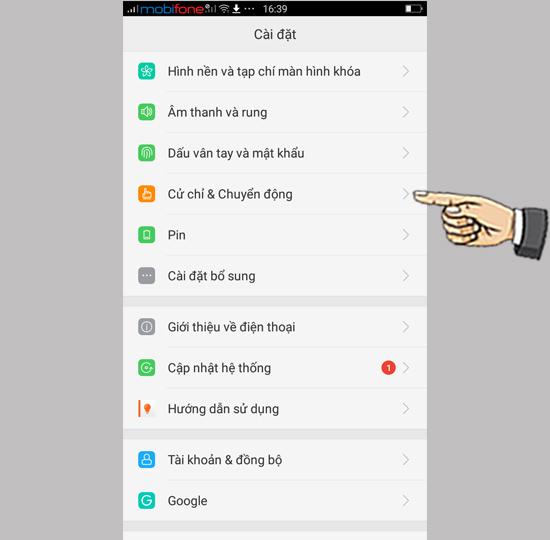 Thực hiện cuộc gọi nhanh khi màn hình tắt trên OPPO F3