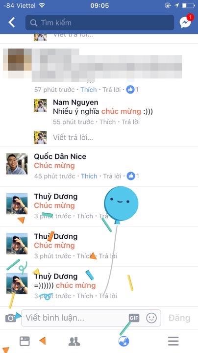 Comment để bắn pháo hoa trên Facebook-2