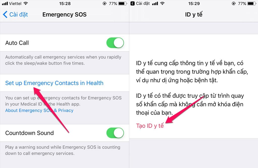 Các bước thiết lập cuộc gọi khẩn cấp trên iOS 11-4