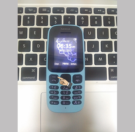 Cách bật đèn pin Nokia 105 2017 2