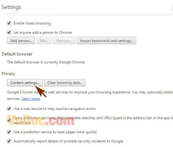 Cách chặn quảng cáo trên Google Chorme 3