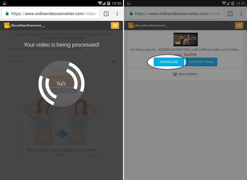 Cách tải nhạc MP3 chất lượng cao từ Youtube về điện thoại siêu dễ 2