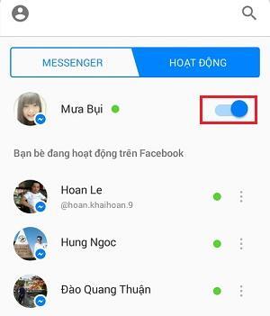 Cách tắt đèn khi online trên Messenger Facebook 3