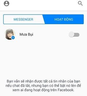 Cách tắt đèn khi online trên Messenger Facebook 4