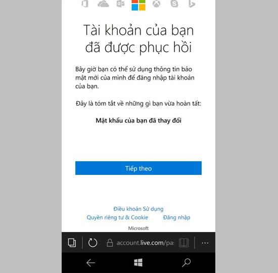 Hướng dẫn lấy lại mật khẩu của tài khoản Microsoft Live ID 8