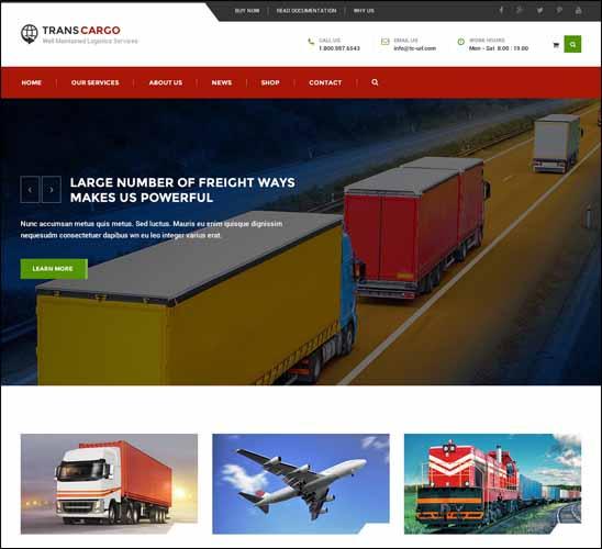 Thiết kế website logistics vận chuyển chuyên nghiệp