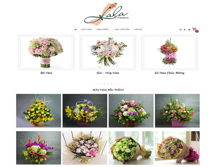 thiet ke website shop hoa tuoi