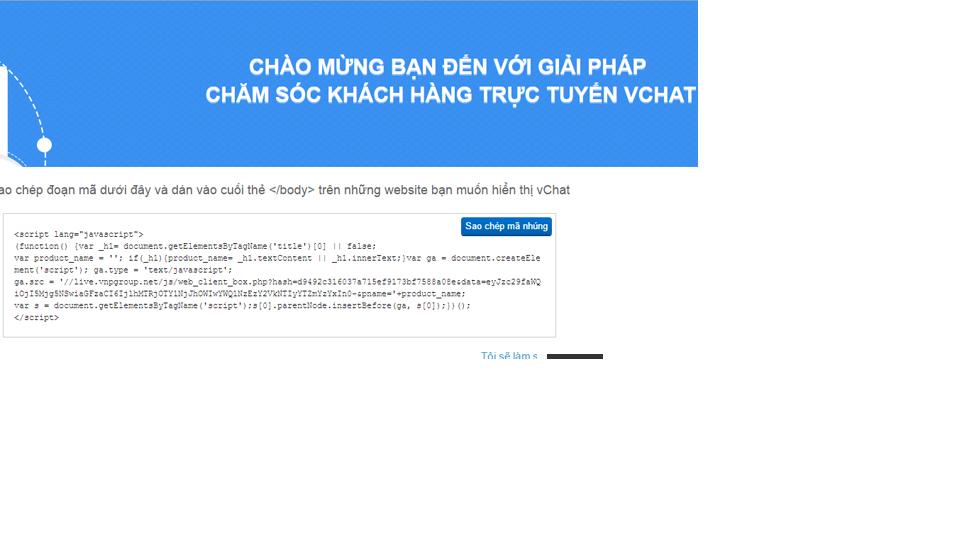 Cách tích hợp chat online vào website 3