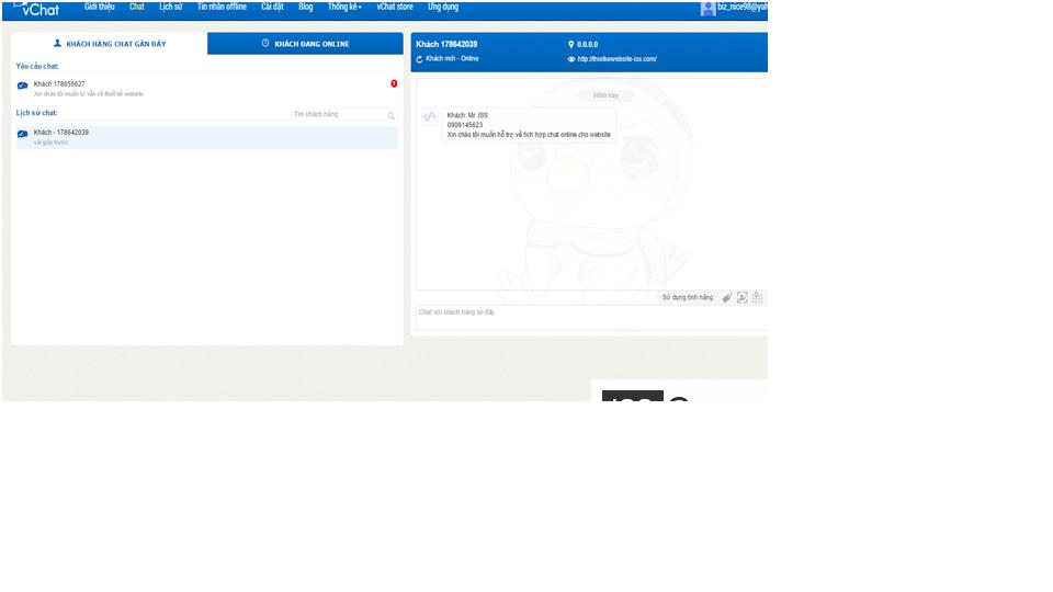 Cách tích hợp chat online vào website 5