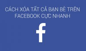 Cách xóa tất cả bạn bè trên Facebook trong vòng một nốt nhạc-1