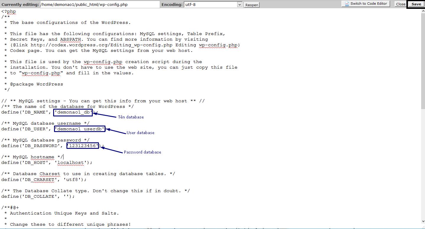 Hướng dẫn cài đặt WordPress lên hosting trên cPanel  8