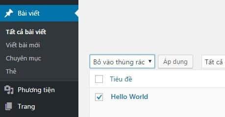 việc cần làm sau khi cài đặt WordPress 1