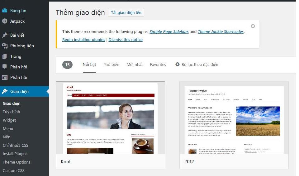 việc cần làm sau khi cài đặt WordPress 2