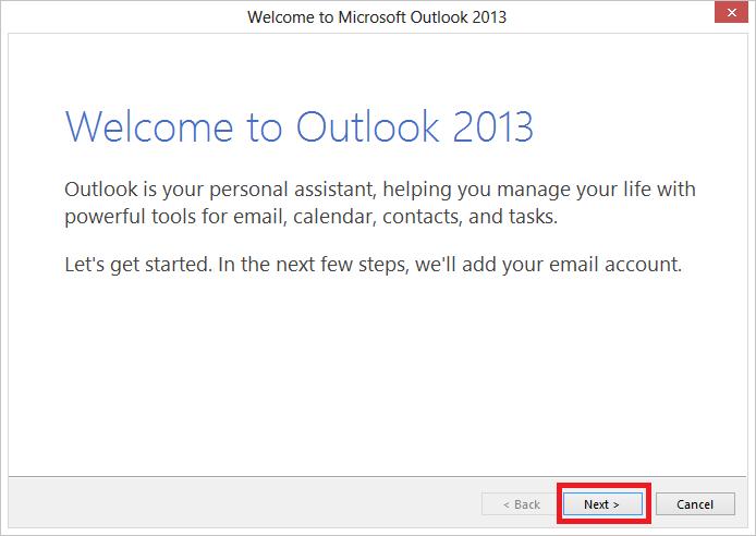 Hướng dẫn cách cài đặt Outlook 2013 1