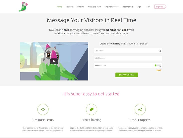 4 Phần mềm chat trực tuyến trên web tốt nhất 1