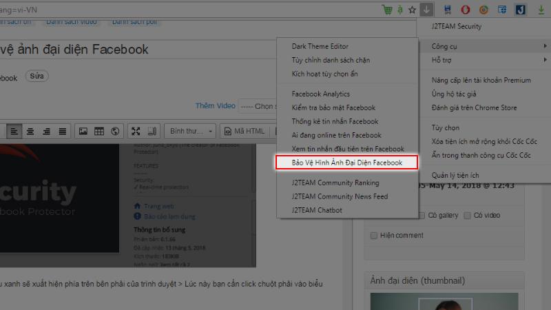 Hướng dẫn cách kích hoạt tính năng bảo vệ ảnh đại diện facebook 2
