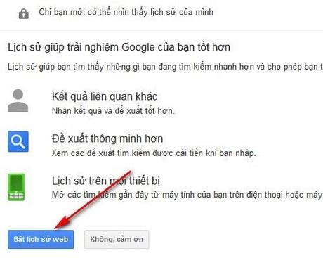 Hướng dẫn cách xem lịch sử tìm kiếm trên google