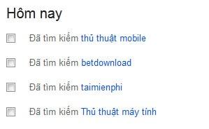 Hướng dẫn cách xem lịch sử tìm kiếm trên google 2