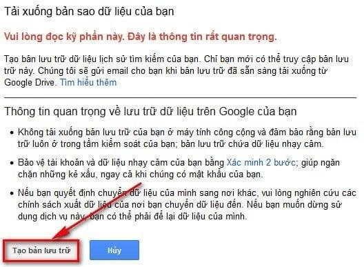 Hướng dẫn cách xem lịch sử tìm kiếm trên google 4