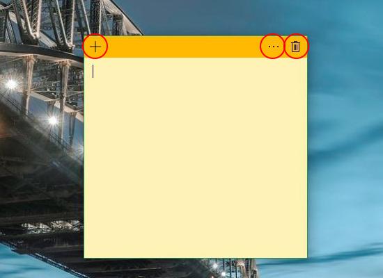 Tạo ghi chú nhanh trên windows 10 3