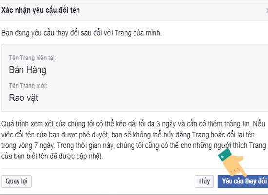 Cách đổi tên Fanpage trên Facebook 11