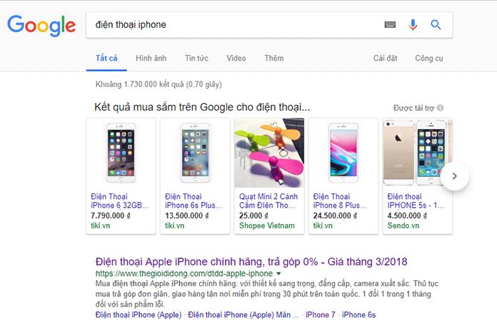 Quảng cáo mua sắm Google Shopping là gì?