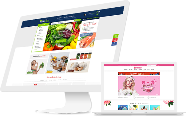 Thiết kế web bán hàng nổi bật với hình ảnh đẹp