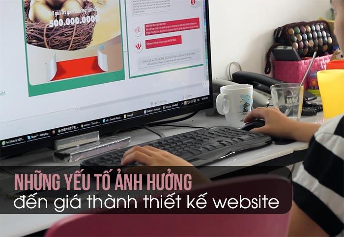 Những yếu tố ảnh hưởng đến giá thành thiết kế website